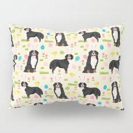 Bernese Mountain Dog easter egg easter bunny dog pattern dog breeds custom art Pillow Sham