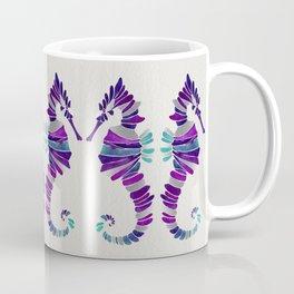 Seahorse – Purple & Silver Coffee Mug
