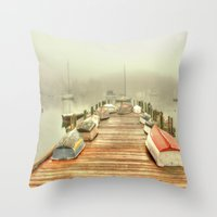 cape cod Throw Pillows featuring Cape Cod Mornings 2 by Raymond Earley