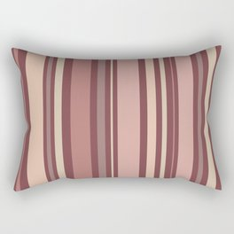 Striped Pattern (quiet shades of brown) Rectangular Pillow