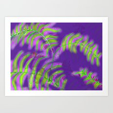 Purple Shade Palms Art Print