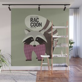 Hello Raccoon Wall Mural