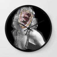 geode Wall Clocks featuring Geode Marilyn by hunnydoll