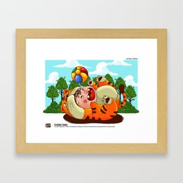 WE ALL ARE TOGETHER: SAY CHEESE TO HARIMAU Framed Art Print
