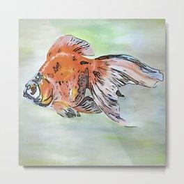 Cartoon Style Ryukin Goldfish Metal Print