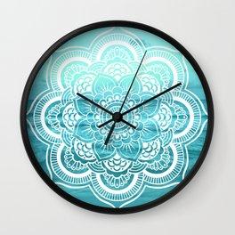 Mandala : Aqua Sunset Waters Wall Clock
