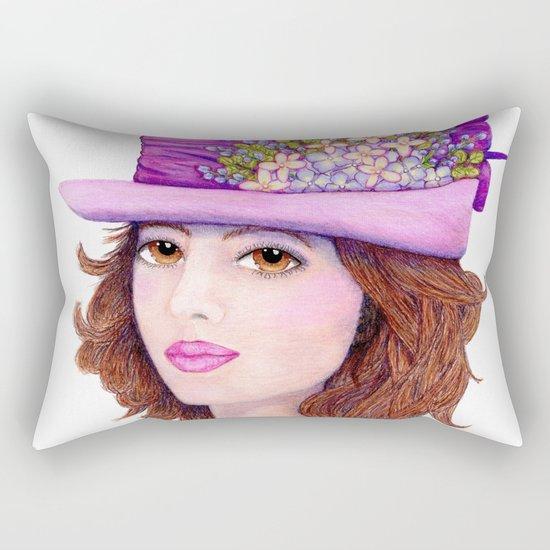 Doe-Eyed Girl by Jane Purcell Rectangular Pillow