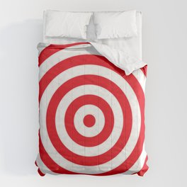 Red target on white background Comforters