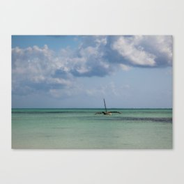 Zanzibar Fishing Boat Canvas Print
