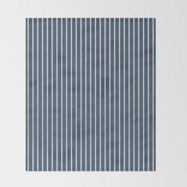 Nautical Handdrawn Stripes Throw Blanket