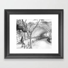Bronx Park Scene Framed Art Print