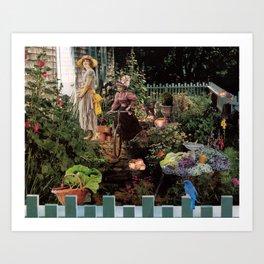Lovers cottage Art Print