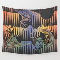 surf Wall Tapestries featuring Surf by QUEQZZ
