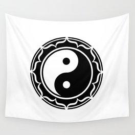 Yin Yang Lotus Flower Wall Tapestry