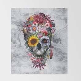 Voodoo Skull Throw Blanket