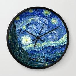 Vincent van Gogh Starry Night 1889 Wall Clock