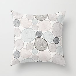 Tree Rings Throw Pillow