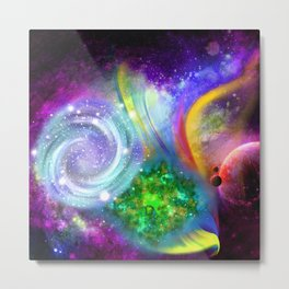 Rainbow space Metal Print