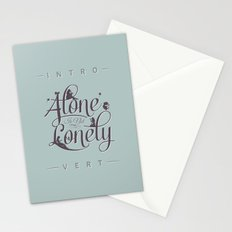 'Alone' Is Not 'Lonely' Stationery Cards