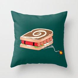 Dynamite Sandwich Throw Pillow