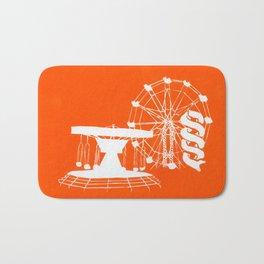 Seaside Fair in Orange Bath Mat