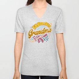 Family Fun Grandmother Fabulous Grandma Unisex V-Neck