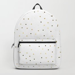 Simple Christmas seamless pattern Golden Confetti on White Background Backpack
