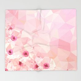 Pink Geometric Patter Throw Blanket