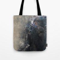 gorilla Tote Bags featuring Gorilla by jbjart