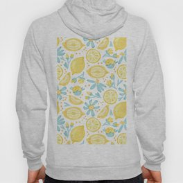 Lemon pattern White Hoody