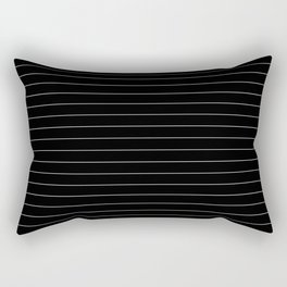 Black White Pinstripe Minimalist Rectangular Pillow