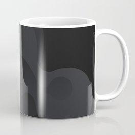 Black white soft fluid art Coffee Mug