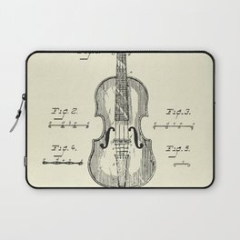 Method of Improving the Tone of Violins-1888 Laptop Sleeve