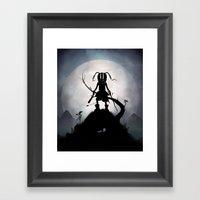 Skyrim Kid Framed Art Print
