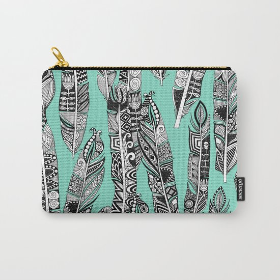 geo feathers mint Carry-All Pouch