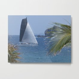 Sailing in Guana Bay Metal Print