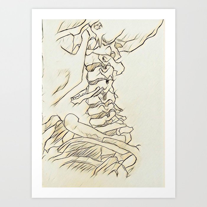 Neck Vertebrae Art Print by bunzbro | Society6