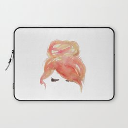 Ginger with a messy bun Laptop Sleeve