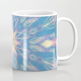 Blue, Pink, White Aura Mandala Coffee Mug