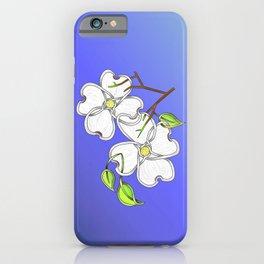 White Dogwood Knot iPhone Case