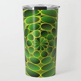 Filled green ellipses Travel Mug