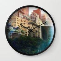 manhattan Wall Clocks featuring Manhattan by Keira