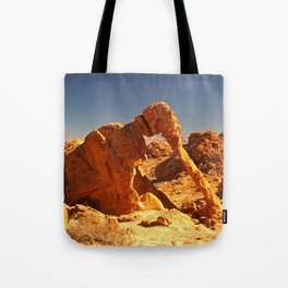 Elephant Rock in the Valley of Fire. Tote Bag