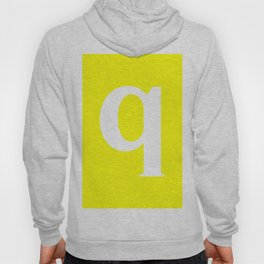 q (WHITE & YELLOW LETTERS) Hoody