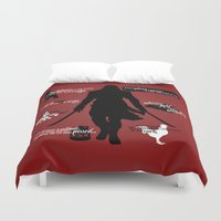 assassins creed Duvet Covers featuring Assassin's Creed - Black Flag Quotes by firlachiel
