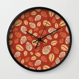 Pupu Hinuhinu - Burnt Orange Wall Clock