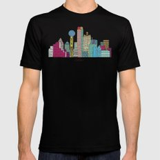 Dallas city  Mens Fitted Tee Black 2X-LARGE