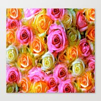 roses Canvas Prints featuring Roses  by Saundra Myles