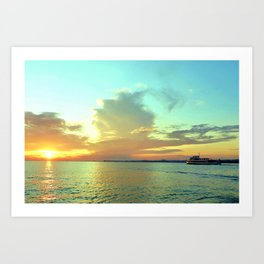 Sunset on Lake Constance Art Print
