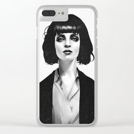 Mrs Mia Wallace Clear iPhone Case